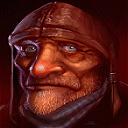 Старик в кожаном шлеме