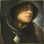 Воин в плаще с капюшоном