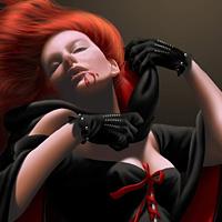 Стильная рыжая вампирша