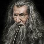 Гэндальф курит