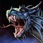 Голова зеленого дракона
