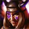 Викинг в рогатом шлеме
