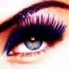 Голубой глазик девушки