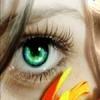 Зеленый глаз блондинки