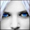 Блондинка с ярко-голубыми глазами