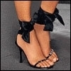 Черные открытые туфельки