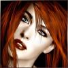 Рыжая красавица с зелеными глазами
