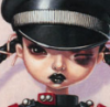Куколка эмо с подбитым глазом