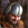 Рыцарь в шлеме смеется