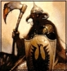 Черный воитель с топором