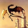 Дракон у замка