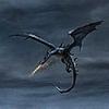 Черный дракон в полете
