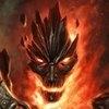 Огнедышащий красный дракон