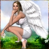 Ангел на лужку