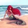 Русалка на пляже